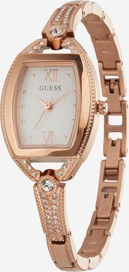 GUESS Uhr 'BELLA' in rosegold / weiß, Produktansicht