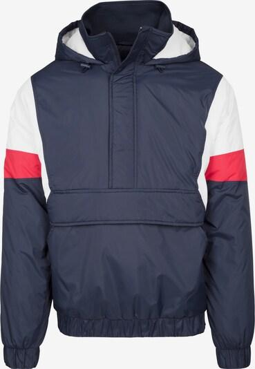 Urban Classics Prijelazna jakna u noćno plava / crvena / bijela, Pregled proizvoda