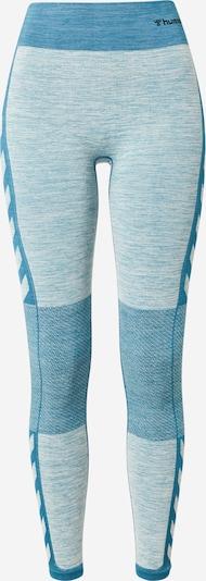 Hummel Sporthose in blau / blaumeliert / schwarz, Produktansicht