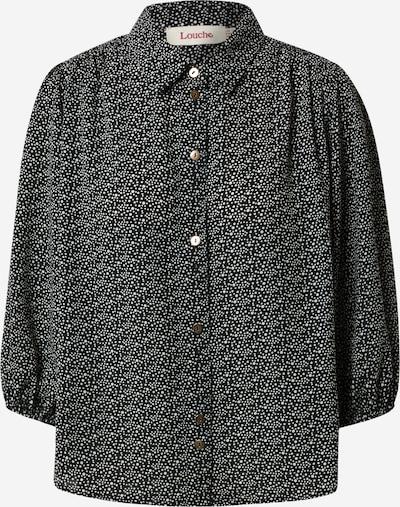 Louche Bluse 'Rosmarine' in schwarz / weiß, Produktansicht