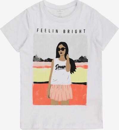 NAME IT Shirt 'FASIGNE' in hellbeige / gelb / orange / schwarz / weiß, Produktansicht