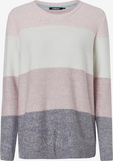 Olsen Rundhalspullover in rosa, Produktansicht