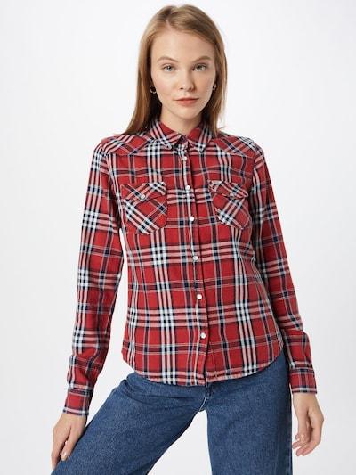 LTB Bluse 'Lucinda' in rot / schwarz / weiß, Modelansicht