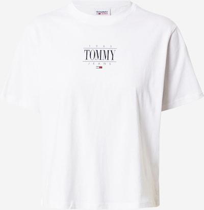 Tommy Jeans T-shirt en bleu marine / blanc, Vue avec produit