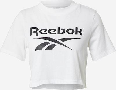 REEBOK Funktionsbluse i sort / hvid, Produktvisning