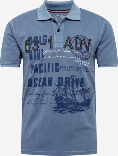 Key Largo Poloshirt 'MP AGENCY' in navy / taubenblau, Produktansicht