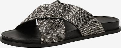 INUOVO Pantolette in schwarz / silber, Produktansicht