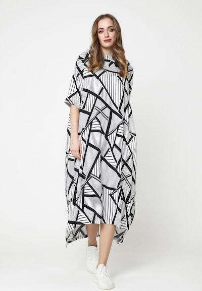 Madam-T Maxikleid 'ADELINARA' in schwarz / weiß, Modelansicht