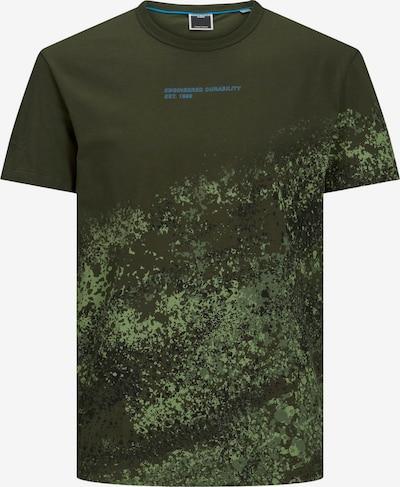 JACK & JONES T-Shirt 'Nines' in khaki / dunkelgrün, Produktansicht
