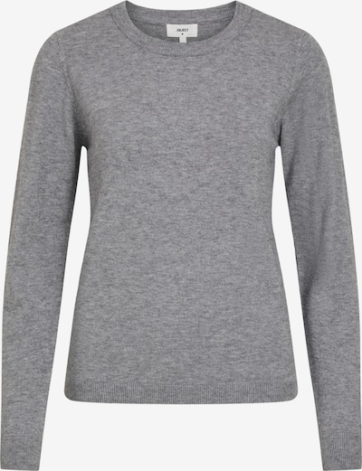 OBJECT OBJTHESS L/S O-NECK KNIT PULLOVER NOOS in graumeliert, Produktansicht