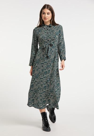 MYMO Kleid in camel / navy / smaragd, Modelansicht