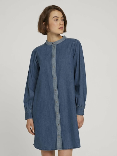 TOM TAILOR DENIM Kleid in blue denim / hellblau, Modelansicht