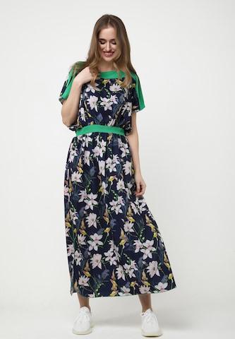 Madam-T Dress 'TSURUMI' in Blue