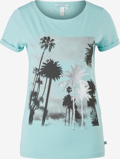 Q/S designed by Shirt in türkis / mischfarben, Produktansicht