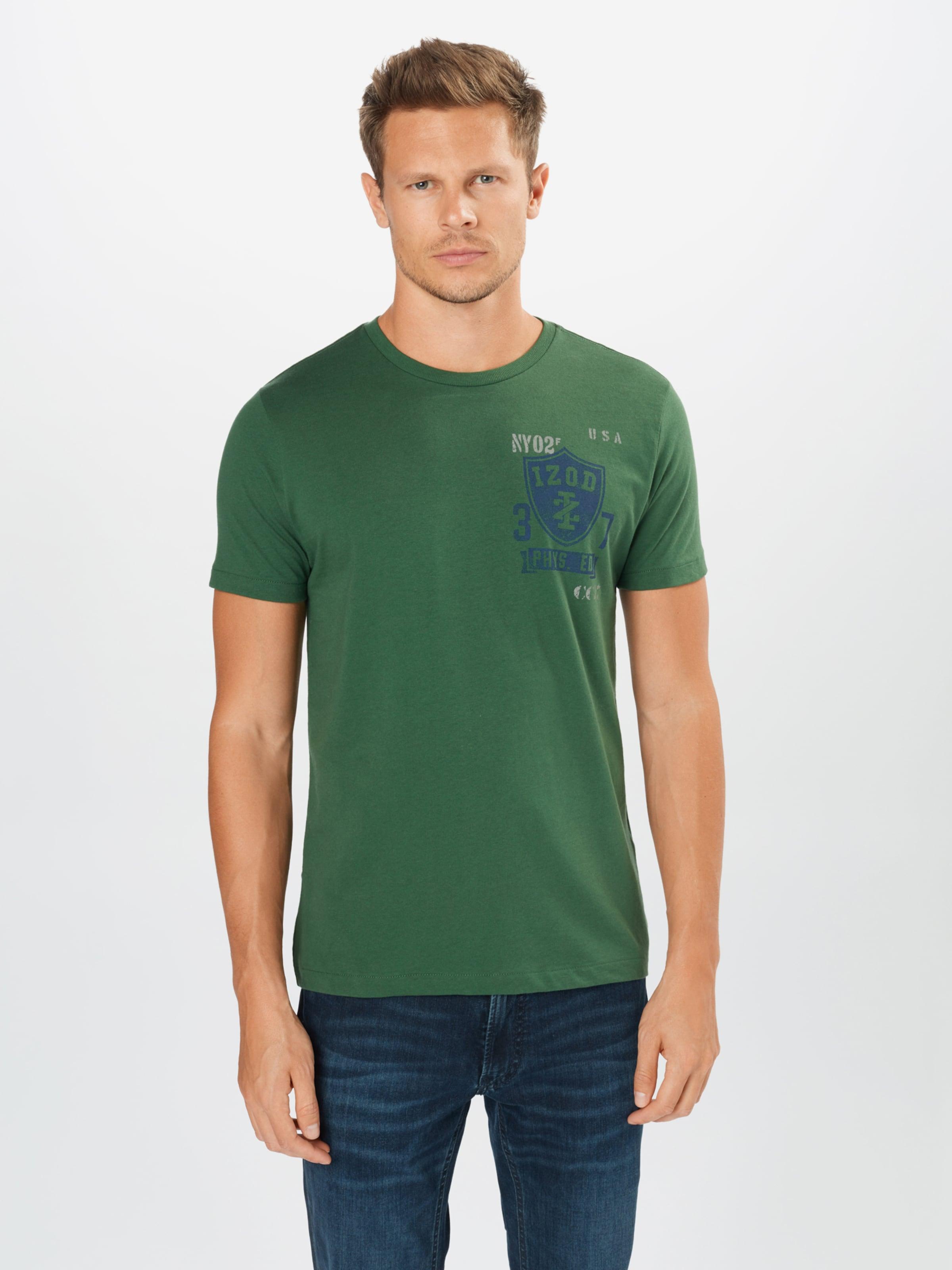 IZOD Shirt in blau / grün / weiß Logoprint IZO0191002000001
