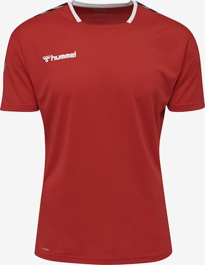 Hummel Trainingsshirt in basaltgrau / rot / schwarz / weiß, Produktansicht