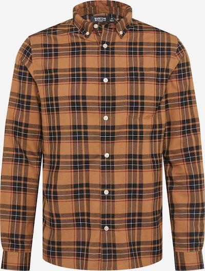 BURTON MENSWEAR LONDON Hemd 'CHECK' in hellbeige / dunkelbeige / rot / schwarz / weiß, Produktansicht
