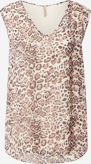 Soyaconcept Bluse 'RABEN' in beige / grau / lila, Produktansicht