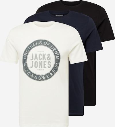 JACK & JONES Tričko 'EJEANS' - námornícka modrá / modrosivá / čierna / biela, Produkt