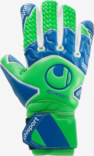 UHLSPORT Handschuh in blau / hellgrün, Produktansicht