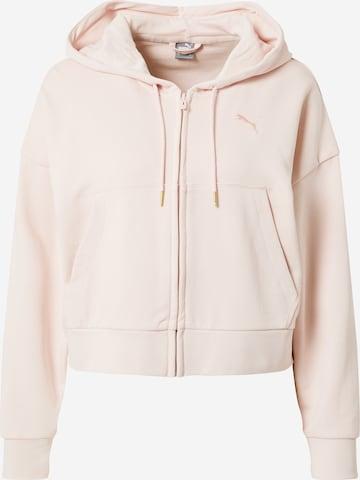 PUMA Athletic Zip-Up Hoodie in Pink
