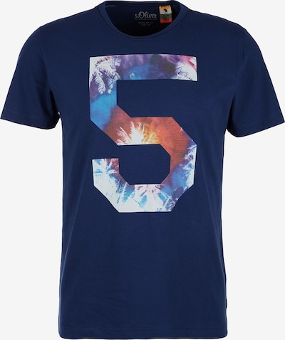 s.Oliver T-Shirt in dunkelblau: Frontalansicht