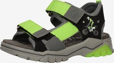 RICOSTA Avonaiset kengät värissä harmaa / vihreä, Tuotenäkymä