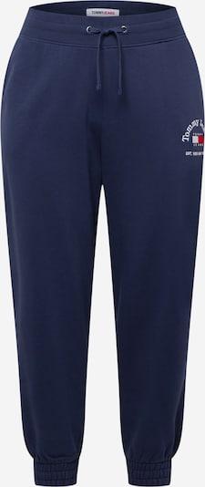 Kelnės iš Tommy Jeans Curve, spalva – tamsiai mėlyna / raudona / balta, Prekių apžvalga