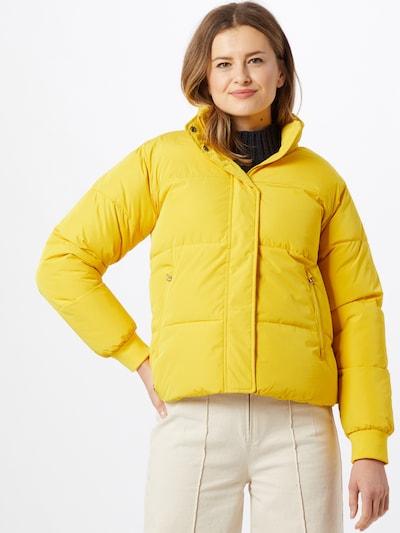 mazine Winterjas 'Topley' in de kleur Geel: Vooraanzicht