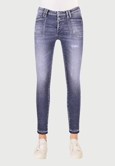 Le Temps Des Cerises 7/8-Jeans 'POWERC' in dunkelgrau, Modelansicht