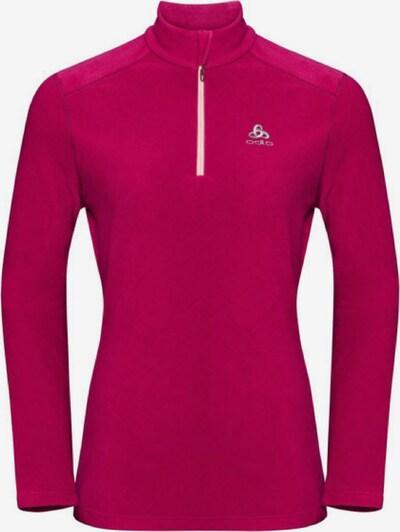 ODLO Sportsweatshirt in fuchsia / weiß, Produktansicht