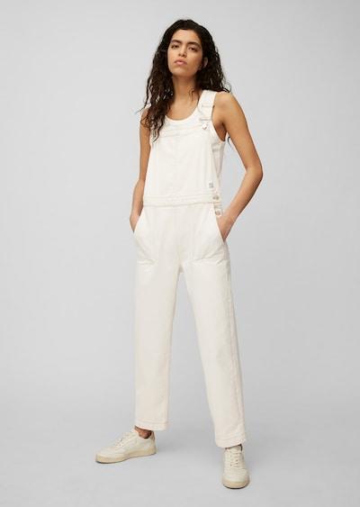 Marc O'Polo DENIM Tuinbroek jeans in de kleur Wit, Modelweergave