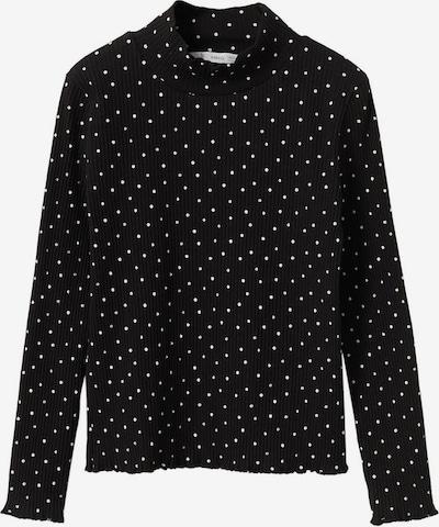 Tricou 'TURBOPRI' MANGO KIDS pe negru / alb, Vizualizare produs