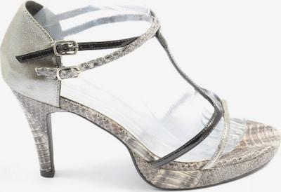 heine T-Steg-Sandaletten in 39 in schwarz / silber, Produktansicht