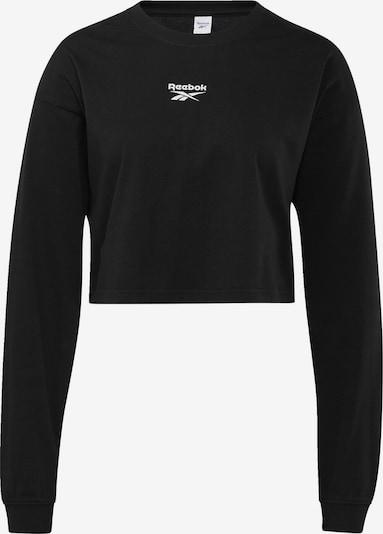 Reebok Classic T-shirt 'Vector' en noir, Vue avec produit