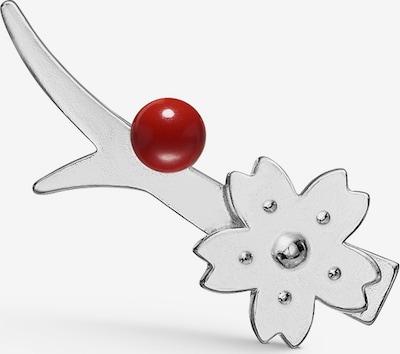 Polar Jewelry Oorbellen 'Sakura Earcrawler' in de kleur Donkerrood / Zilver, Productweergave