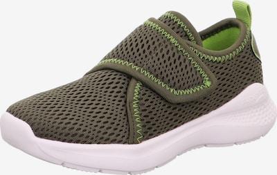 SUPERFIT Sneaker 'FLASH' in khaki / neongrün, Produktansicht