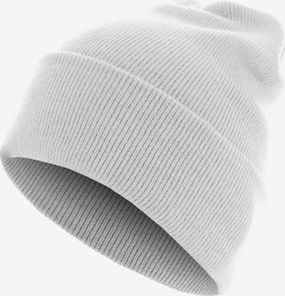MSTRDS Accessoires ' Beanie Basic Flap Long Version ' in hellgrau / weiß, Produktansicht