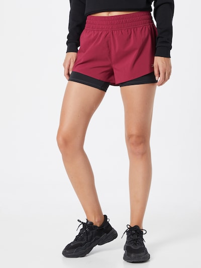 Reebok Sport Shorts in pitaya / schwarz: Frontalansicht