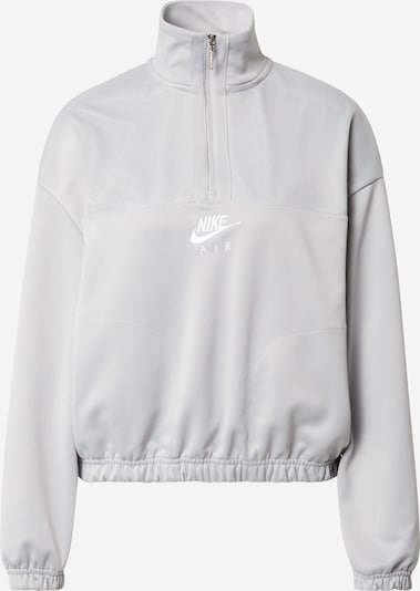 Nike Sportswear Блузон с качулка в сиво / бяло, Преглед на продукта