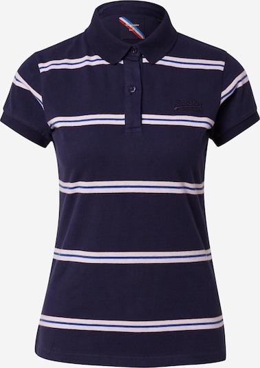 Superdry Тениска в синьо / тъмносиньо / бяло, Преглед на продукта