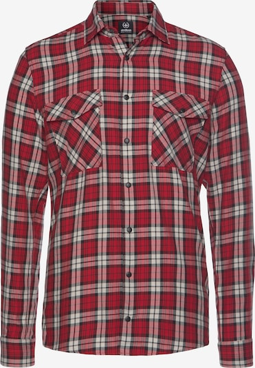 STRELLSON Button Up Shirt in Red / Black / natural white, Item view