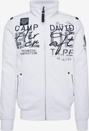 CAMP DAVID Veste de survêtement en noir / blanc, Vue avec produit