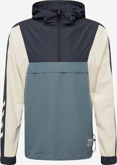 Hummel Sportjas 'hmlAlvin' in de kleur Beige / Blauw / Wit, Productweergave
