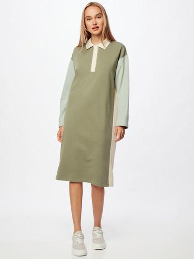 Rochie tip bluză Gina Tricot pe bej / kaki / verde mentă, Vizualizare model