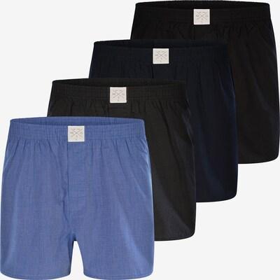 MG-1 Web-Boxershorts ' 4-Pack Boxershorts Classics #1 ' in hellblau / dunkelblau / schwarz, Produktansicht