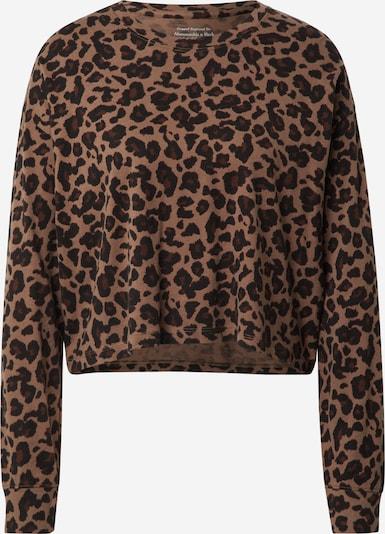 Abercrombie & Fitch Sweat-shirt en caramel / pueblo / noir, Vue avec produit