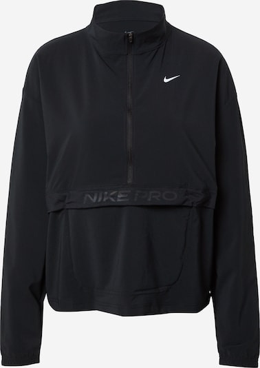 NIKE Sportiska tipa džemperis melns / balts, Preces skats