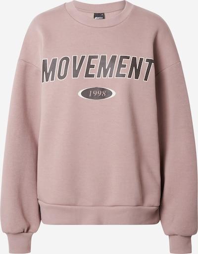 Gina Tricot Суичър 'Riley' в розе / черно / бяло: Изглед отпред