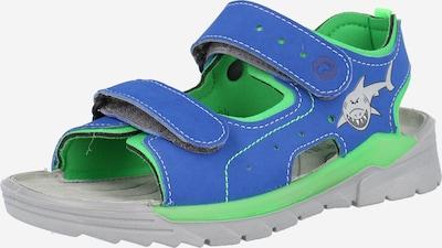 RICOSTA Chaussures ouvertes 'Surf' en bleu roi / gris / citron vert, Vue avec produit